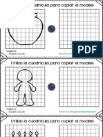 30 Fichas para mejorar la atención dibujamos con cuadricula