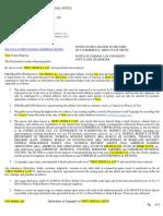 Copyright Affidavit Template