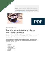 Barra de Herramientas de Word