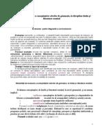 Modalităţi de evaluare la disciplina limba şi literatura română