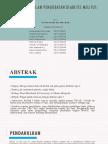 Teh Herbal Dalam Pengobatan Diabetes Melitus (Jurding 6)