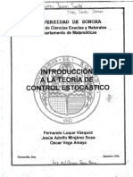 Introduccion a la teoria del Control Estocastico