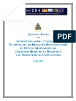 Informe Anual CONADEH 2012