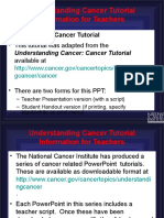 Understanding Cancer Teacher PPT