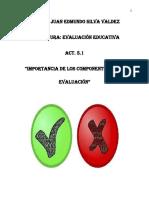 """A.5.1_JESV """"Importancia de los componentes de la evaluación""""."""