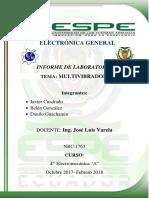 Informe multivibrador astable