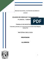 Proyecto Biologia Perdida y Consecuencias