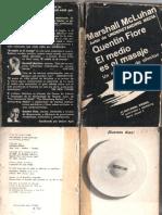 El Medio Es El Masaje - McLuhan - Fiore