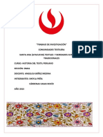 COMUNIDADES TEXTILERA SANTA ANA (AYACUCHO) TEXTILES  Y BORDADOS AYACUCHANOS TRADICIONALES