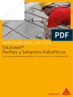 SikaSwell Perfiles y Sellantes