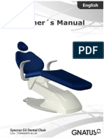 Gnatus Syncrus G3 Dental Chair - User Manual