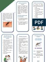 el dengue - triptico