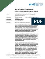 RTFM Análisis de la implementación de un modelo hidrológico distribuido con información estándar en España.2012