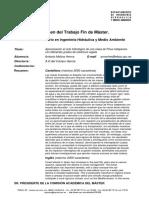 RTFM Aproximación al ciclo hidrológico de una masa de Pinus halapensis con diferentes grados de cobertura vegetal. 2010