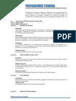 Especificaciones Técnicas Posta Medica
