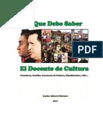 Lo Que Debe Saber El Docente de Cultura