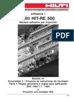 Anclaje de Barras de Refuerzo Con RE-500