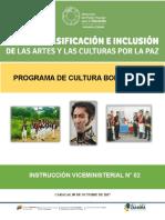 INSTRUCCION VICEMINISTERIAL N°1 SOBRE EL PROGRAMA CULTURA BOLIVARIANA (1)