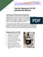 UV 150 Photochemicalreactor Datasheet