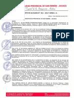 Decreto de Alcaldia Nro. 015-2017