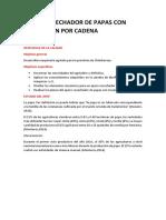 Apero Cosechador de Papas Con Tramision Por Cadena