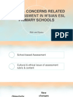 Issues & Concerns Related to Assessment in m'Sian Esl Primary Schools (Iffah & Yana)