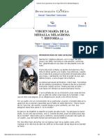 Historia de Las Apariciones de La Virgen María de La Medalla Milagrosa