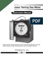 Dc Type Dry gas meter Manual