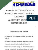 Presentacion Taller Auditoria Social CESAR y CESAMO