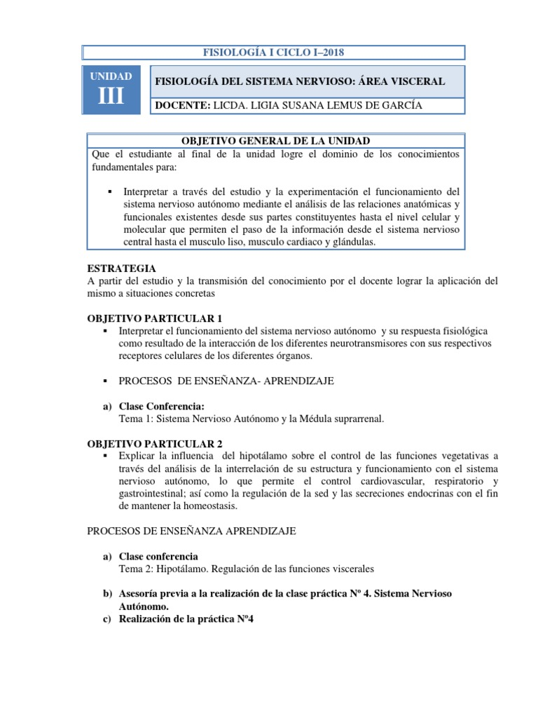 Unidad III- Fisiologia Del Sna-2018 (1)