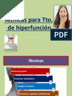 Técnicas para hiperfunción