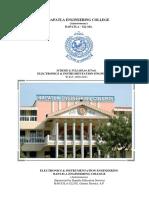 EIE - Autonomous - I,II& III and IV -EI Scheme and Syllabus-2011-12