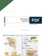 Clase 16 Metabolismo de Carbohidratos