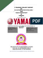 28710601 Yamaha Sales Promotion and Customer Satisfaction