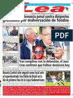 Periódico Lea Viernes 13 de Abril Del 2018
