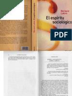 Lahire El Espiritu Sociologico