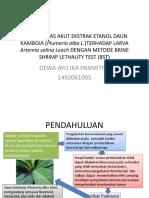 Uji Toksisitas Akut Ekstrak Etanol Daun Kamboja (