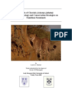 Aspects of Cheetah (Acinonyx Jubatus) Biology, Ecology and