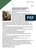 Oración de Consagración Dada Por San Miguel Arcángel Para Todos Sus Fieles y Devotos – Gloria.tv