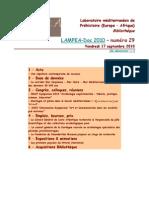 LAMPEA-Doc 2010 – numéro 29 / Vendredi 17 septembre 2010