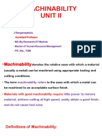 Mp 2 Unit II Machinability