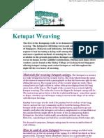 Ketupat Weaving Instructions