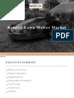 Global Robotic Lawn Mower Market Analysis by Arizton