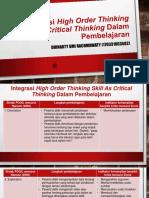 Integrasi High Order Thinking Skill as Critical Thinking