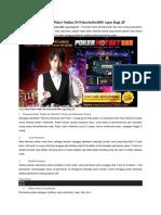 Cara Main Poker Online Di Pokerhotbet888 Agen Bagi JP