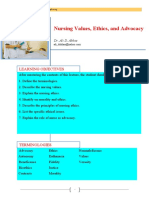 Nursing Values, Ethics, And Advocacy