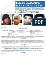Rafael Caro Quintero Most wanted poster 20M USD reward 4.12.18
