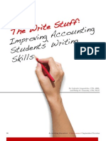 The Write Stuff -- Improving Accounting Students' Writing Skills