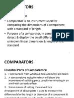 Comparators Notes