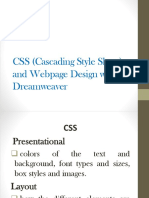 CSS Cascading Style Sheet and Webpage